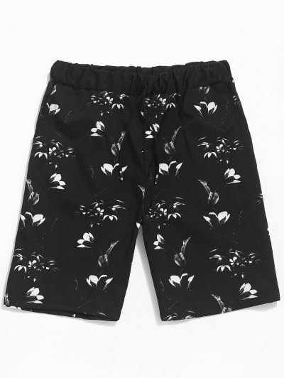 Floral Print Casual Beach Shorts
