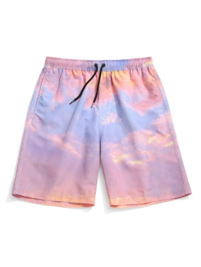 Tie Dye Painting Print Board Shorts